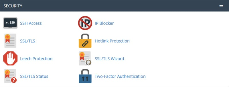 cPanel Security Category