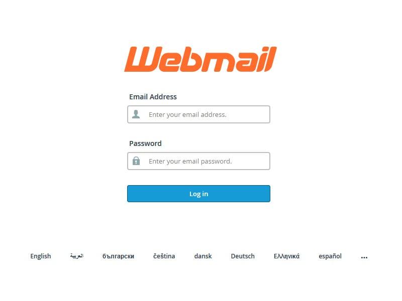 cPanel Webmail Login